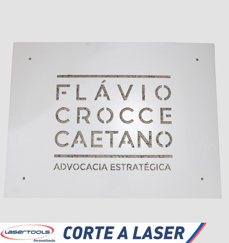 Corte a Laser- Placa para Escritório