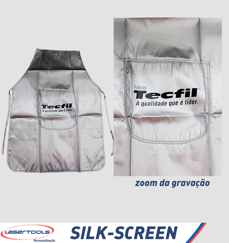 Silk-Screen - Avental Prateado