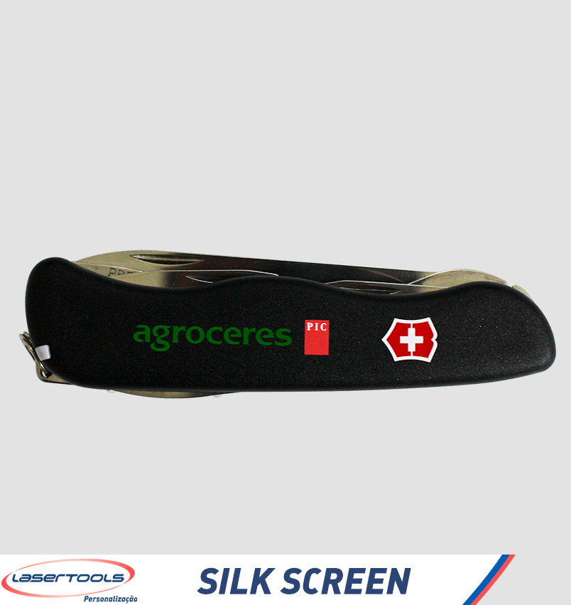 Silk-screen em canivete